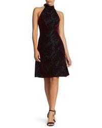 Miranda velvet fit flare halter dress medium 5170032