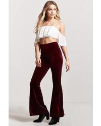 Forever 21 Flared Velvet Pants