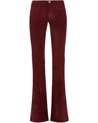 MiH Jeans Mih Jeans Marrakesh High Rise Kick Flare Velvet Trousers