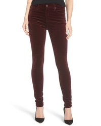 AG Jeans Ag The Farrah High Waist Velvet Jeans