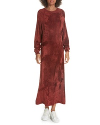 Elizabeth and James Lafayette Velvet Sweatshirt Dress