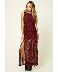 M slit floral maxi dress medium 1128556