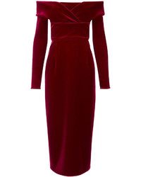 Burgundy velvet oili dress medium 961804