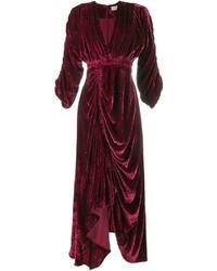 Rebecca draped velvet dress medium 961876