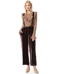 f820ac90f82dd Burgundy Velvet Overalls for Women