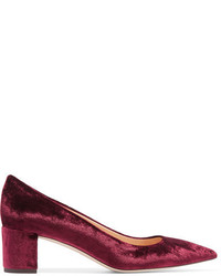 Burgundy Velvet Pumps