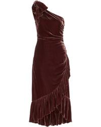 Velvet asymmetric dress medium 6453843