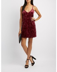 Charlotte Russe Velvet Shift Dress