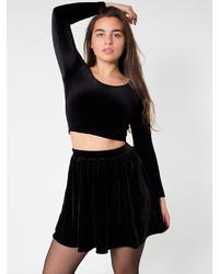 1c32e3d388 American Apparel Stretch Velvet Skirt, $46 | American Apparel ...