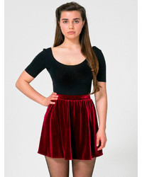American Apparel Stretch Velvet Skirt