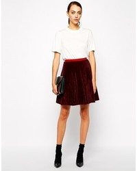 Antipodium Facade Skirt Oxblood