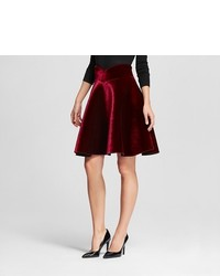 Velvet Flare Skirt Burgundy J By Joa