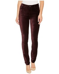 Hoxton velvet skinny in black cherry jeans medium 5310282