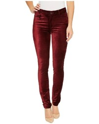 Hoxton velvet skinny in dark magenta jeans medium 5310271
