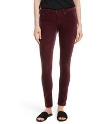 Rag & Bone Jean Velvet Skinny Jeans