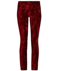 Madame skinny leg velvet and leather trousers medium 805783
