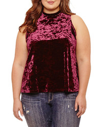 Arizona Velvet Tank Top Juniors Plus