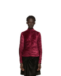 Kenzo Red Limited Edition Holiday Gathered Turtleneck