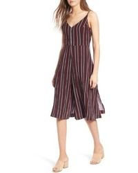 8210a919c66f Burgundy Vertical Striped Jumpsuits for Women