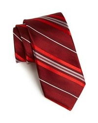 Burgundy Vertical Striped Tie