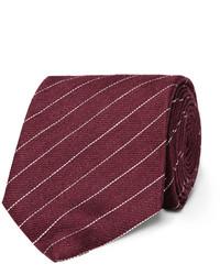 8cm striped linen and mulberry silk blend tie medium 3674740