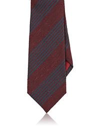 Bigi Bigi Striped Silk Shantung Necktie