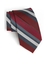Calibrate Woven Silk Tie Burgundy Regular