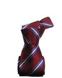 Dmitry Italian Burgundy Striped Silk Tie