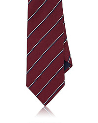 Barneys New York Striped Basket Weave Silk Necktie