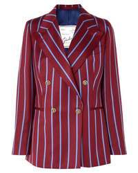 Giuliva Heritage Collection Stella Double Breasted Striped Wool Blazer