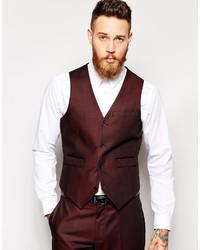 Asos Brand Slim Fit Suit Vest In Tonic