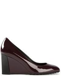Burgundy Wedge Pumps