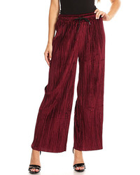 Burgundy palazzo pants medium 6458465