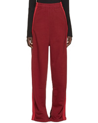 Vetements Burgundy Wide Leg Lounge Pants