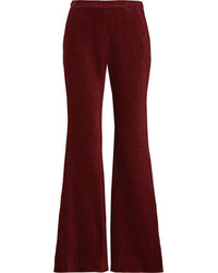 Rosetta Getty Chenille Flared Pants Burgundy