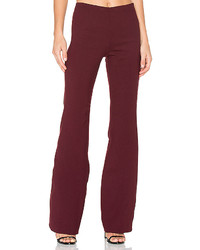 Theory Demitria Flare Pant In Burgundy Size 0