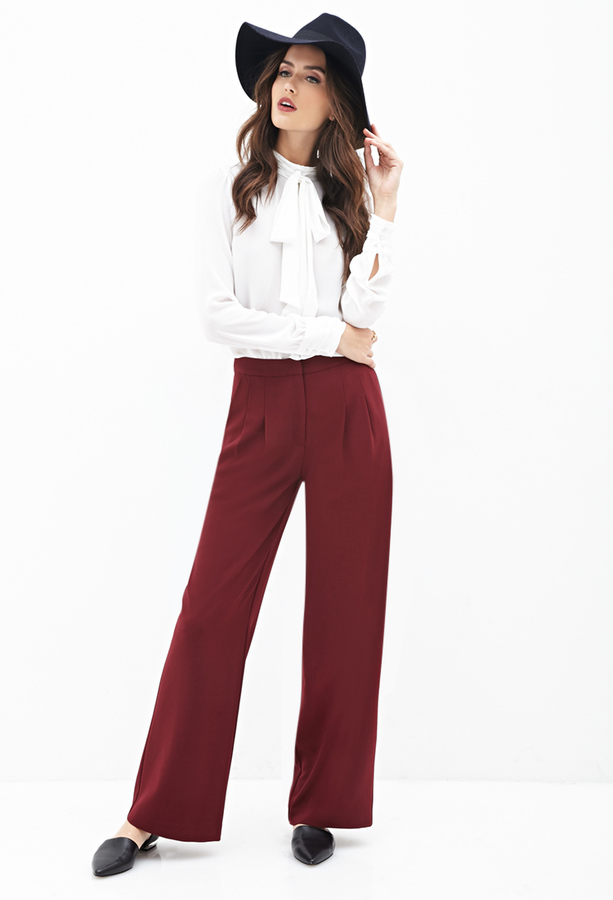Forever 21 Contemporary Pleated Wide Leg Pants | Where to buy