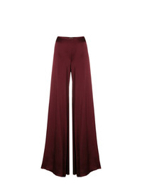Romeo Gigli Vintage Glossy Flared Trousers