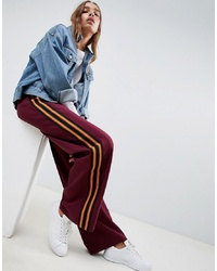 ASOS DESIGN Tailored Colour Block Track Pant With Wide Leg