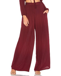 Viyanna wide leg pant in burgundy size l medium 6458464