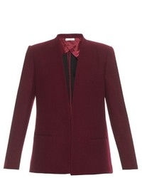 Burgundy Wool Blazer