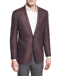 G line textured wool blend sport jacket red medium 589303