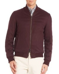 Etro Wool Cashmere Blend Reversible Bomber Jacket