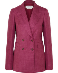 Gabriela Hearst Angela Double Breasted Wool Silk And Blazer