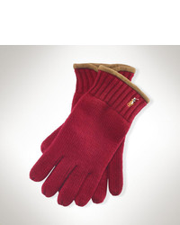 Burgundy Wool Gloves