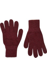 Drakes Drakes Contrast Cuff Gloves Red