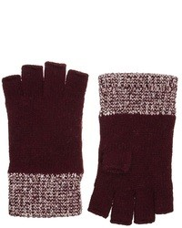 Jack wills colbrook fingerless gloves red medium 16474