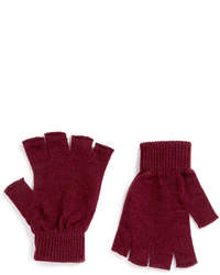 Topman Burgundy Fingerless Gloves
