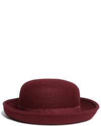 Burgundy Wool Hat