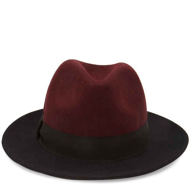 ... Forever 21 Colorblock Wool Fedora Hat ... f76310823fd